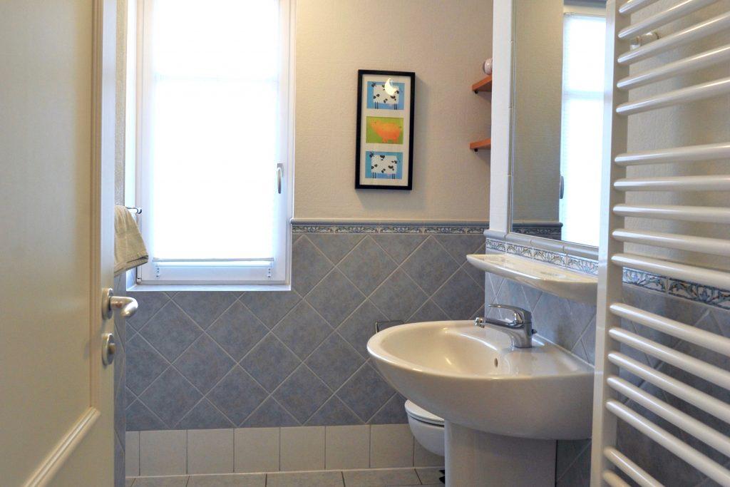 Das Badezimmer: Von der Dusche bis zum Föhn finden Sie alles, um wach zu werden.